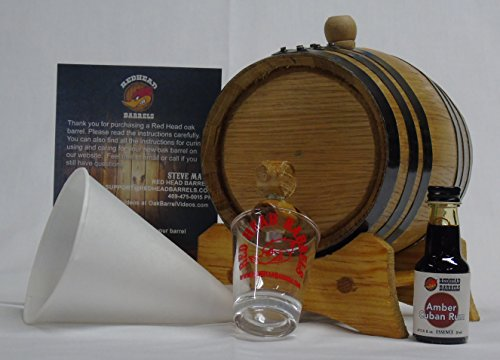1 Liter Charred Oak Barrel Flavor Kit w/Essence for making your own flavored alcohol (Amber Cuban Rum)