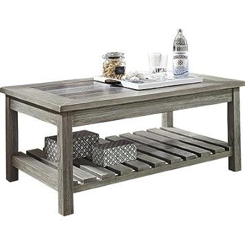 Briarwood Coffee Table With Magazine Rack In Tan Tone