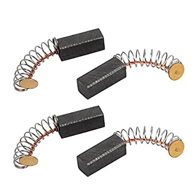 uxcell 2 Pairs Electric Drill Motor Rotary Power Tool Carbon Brush 6 x 6 x 15mm