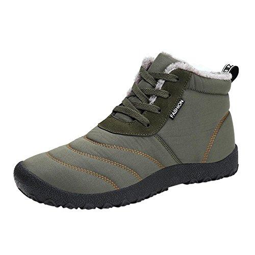 Snow Boots Sports Shoes, SOMESUN Winter Snow stivali impermeabili Insulated informale all'aperto Sport Scarpe delle donne degli uomini donna (45, Green)