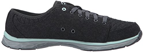 Dr. Scholls Womens Anna Fashion Sneaker Dark Charcoal Quilted Flannel qBVf6Sp