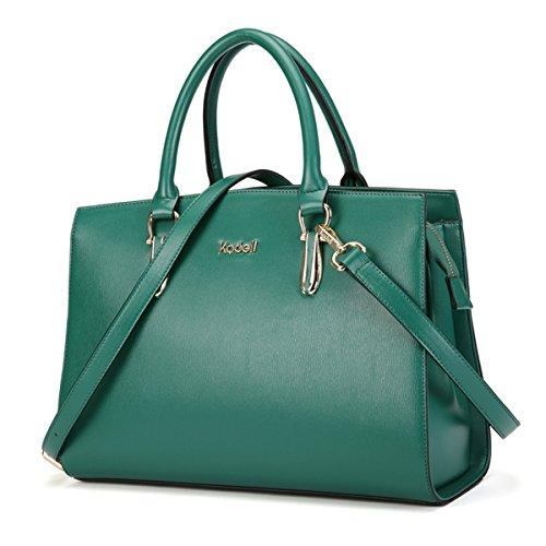 femme Sacs cuir main Kadell Bag Sac Vintage à Sac foncé marron bandoulière Vert à Tote à en bandoulière X1Sqd