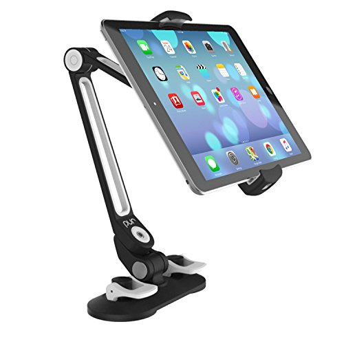 PUR Tablet Computer/Cell Phone Universal Mount Stand with Suction Cup Base (Black)