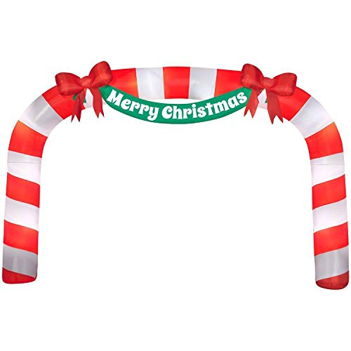 Home Accents Holiday 23 ft Giant Candy Cane Archway inflatable from Home Accents Holiday