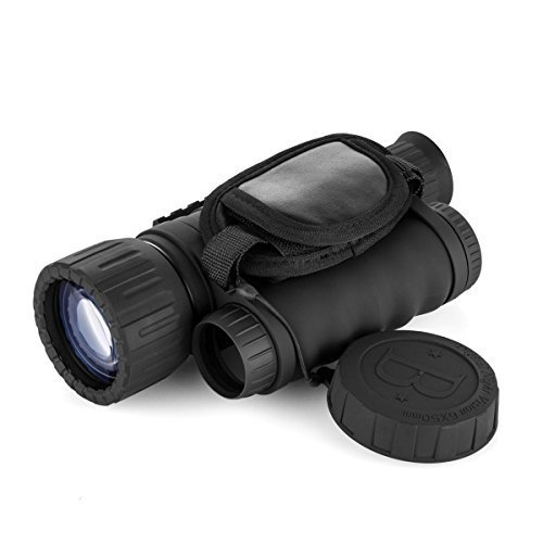 GemTune WG-50 6x50mm HD Digital Night Vision Monocular with 1.5 inch TFT LCD Camera and Camcorder Function Takes 5mp Photo 720p Video from 350m Distance for Night Watching or Observation