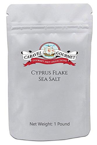 Cyprus Flake Sea Salt - Cyprus Flake Sea Salt 1 lb. - Beautiful, All-Natural Finishing Salt - Large Solar-Evaporated Pyramid Salt Flakes for Dramatic Presentation and Crunch - 1 pound (16 oz.) resealable bag