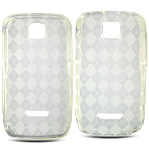 Motorola WX430 Theory Soft Skin Case Transparent Circle Smoke TPU Skin Boost Mobile