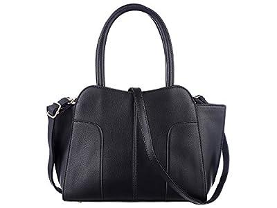 TZECHO, Women Top Handle Satchel Handbags, PU leather bags, Zip Closure Tote Shoulder Bag
