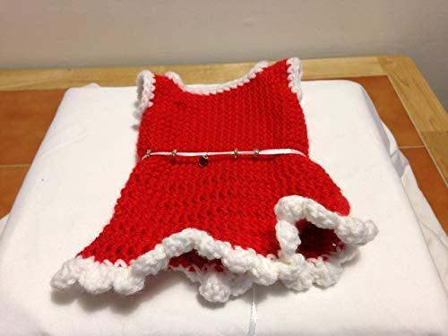 Doll Dress 18 Inch red ribbon charms princess girls beads holidays handmade crochet ()