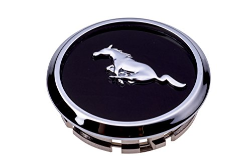 Ford Mustang Center Caps (2005-2014 Ford Mustang Wheel Center Cap Cover Black Chrome Pony Emblem OEM NEW)