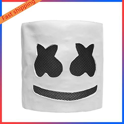 Nevoc Mask, Top 100 Electronic syllables DJ Headgear, Marshmello mask Cosplay Halloween, Music Props Praty Mask -