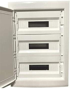 Caja distribucion electrica empotrable IP30 de 54 modulos: Amazon ...