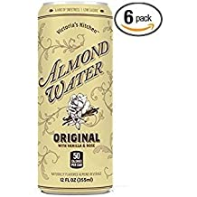 Victoria's Kitchen Almond Water Beverage Original Flavor (Pack of 6) Kosher; Soy, Dairy, & Gluten Free, Low Sugar Low Calorie Soft Drink, European –Inspired, Artisanal Specialty Drink, 12 oz Can