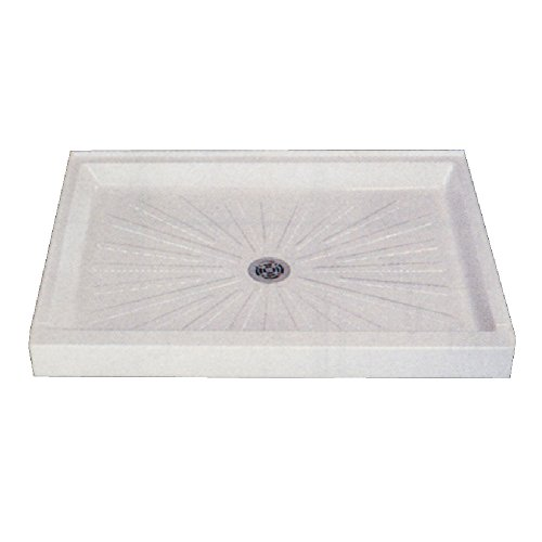 54in Shower Pan - Mustee 3254M 32-in x 54-in Shower Base, White