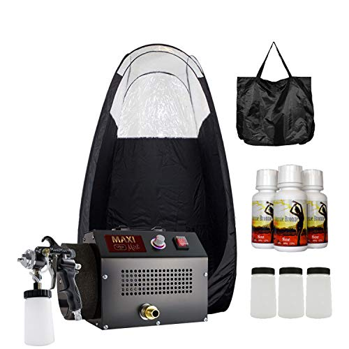MaxiMist Ultra Pro High Volume Spray Tanning System with Black Popup Tent