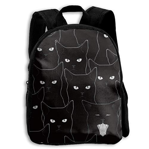 Black Cat Custom Personalized Toddler Backpacks Preschool Daybag Gift ()