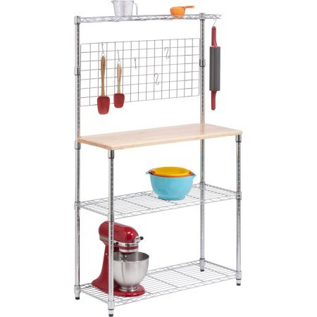 Honey-Can-Do 3-Tier Baker's Rack, Chrome - Transitional Three Tier