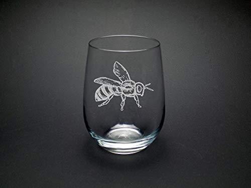 Honey Bee Wine Glass