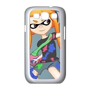 Samsung Galaxy S3 9300 Cell Phone Case White_Splatoon_028 Lppej