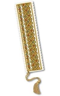 Celtic Knot Bookmark Cross Stitch Kit Green