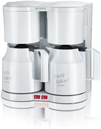 SEVERIN KA 5827 Cafetera Doble para filtros de Café Molido, 2 x 8 tazas incluye 2 jarras termo y filtro para té, blanco: Amazon.es: Hogar