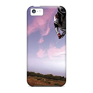 linJUN FENGiphone 6 4.7 inch Case Cover - Slim Fit Tpu Protector Shock Absorbent Case (motocross Bike In Sky)