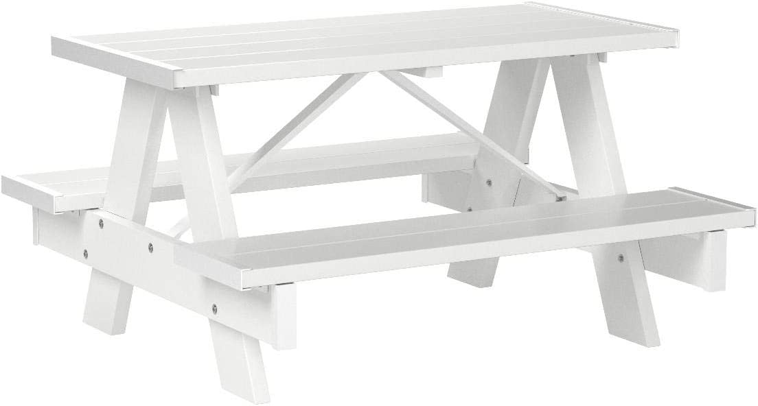 Stainless Steel Bathroom Vanity Cabinet, Amazon Com Dura Trel 11127 4 Feet Kids Picnic Table White Play Table Garden Outdoor