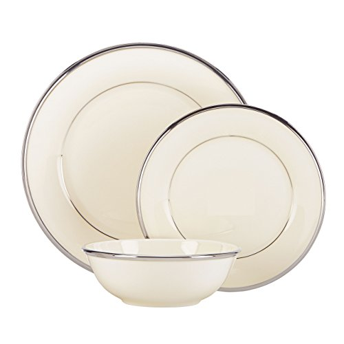 Lenox Solitaire 3-Piece Place Setting, Ivory