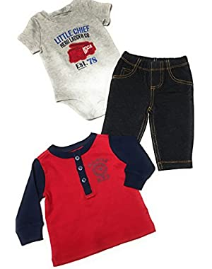 Carter's Baby Boy's 3 Piece Little Chief Outfit 3 Months