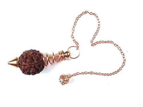 Yoga Meditation Gift- Rudraksha Seed Healing Spiral Oracle Reiki Dowsing Pendulum