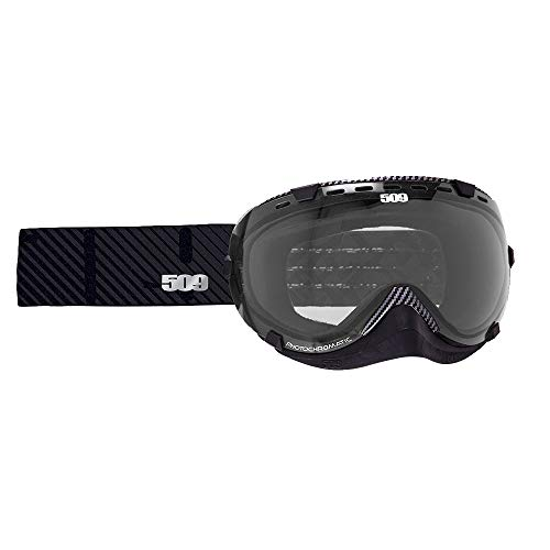 (509 Aviator Snow Goggles - Carbon Fiber - Clear to Blue Photochromatic Tint)