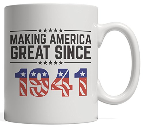 Making America Great Since 1941 Mug - USA Patriotic Anniversary 77th Birthday Gift Idea For Seventy Seven Years Old American Patriot Who Make This Country Greatness Every Year!