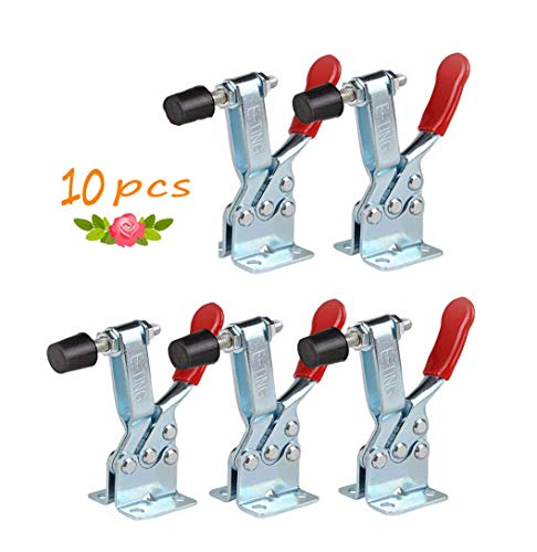 - 5 pack Hold Down Toggle Clamps Latch Antislip Red 201B Hand Tool 200Lbs Holding Capacity Antislip Horizontal Quick Release Heavy Duty Toggle Clamp Tool (201B-2PCS)