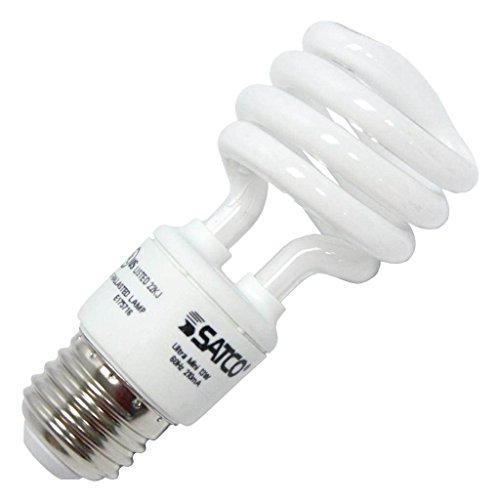 Satco 07268 - 13T2/27/12V S7268 Twist Medium Screw Base Compact Fluorescent Light Bulb (12v Watt Bulb 13)