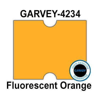 (180,000 GENUINE GARVEY 2117 Fluorescent Orange General Purpose Labels: full case - no security cuts [compatible with Towa 2 Line, Jolly, Hallo, Freedom and Impressa 2117 Punch Hole Labelers])