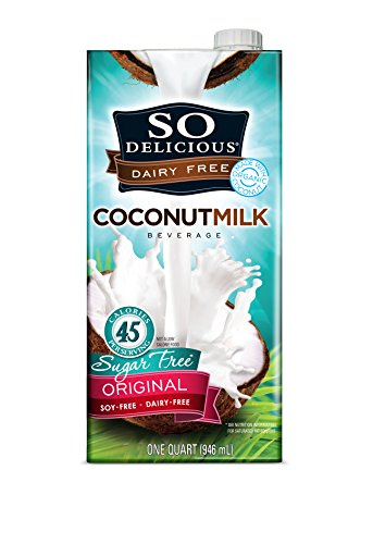 So Delicious Dairy-Free Organic Coconutmilk Beverage, Sugar-Free Original, 32 Ounce Plant-Based Vegan Dairy Alternative, Great in Smoothies Protein Shakes or Cereal