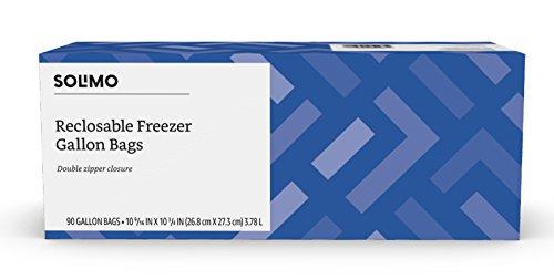 - Amazon Brand - Solimo Freezer Gallon Bags, 90 Count