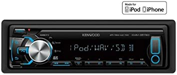 KENWOOD Autorradio digital MP3 / WMA / USB / SD / iPod y iPhone KMM-357SD + Funda par frontal de autoradio EFA100: Amazon.es: Electrónica