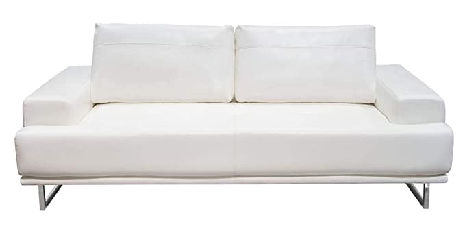 Amazon.com: Russo Sofa with Adjustable Seat Backs in White ...