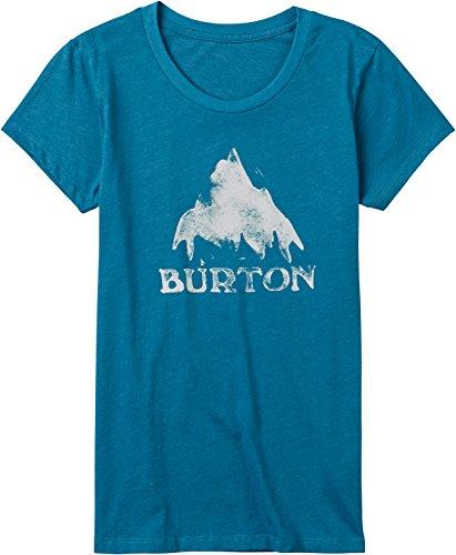 Burton Women's Stamped Mountain Short Sleeve Tee, Hydro Heather, Medium