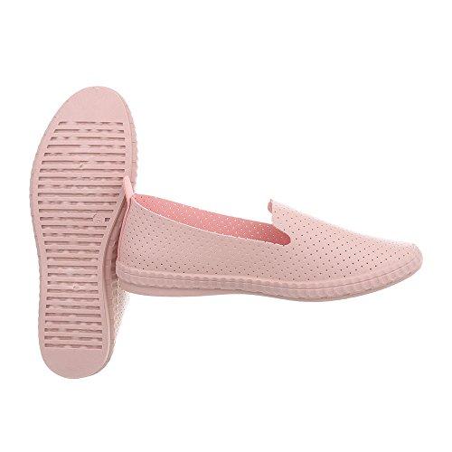 design Mocassino Ital Donna 3 Rosa Piatte Da Al 1838 Pantofole qXwHgH