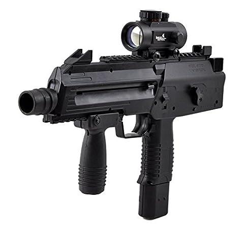 Umarex Steel Storm Semi / 6-Burst CO2 BB Gun Air Pistol SMG w/ Red Dot Sight - Umarex Shot Dot