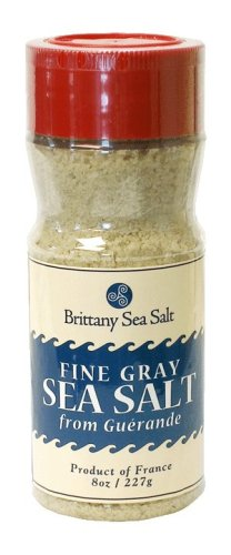 Fine Gray Sea Salt From Guérande 8 Oz Shaker Bottle