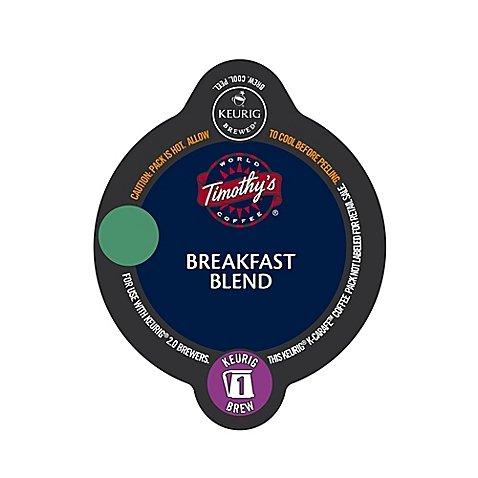 Keurig® K-Carafe™ Pack 8-Count Timothy's® Breakfast Blend - Breakfast Blend Coffee Timothys