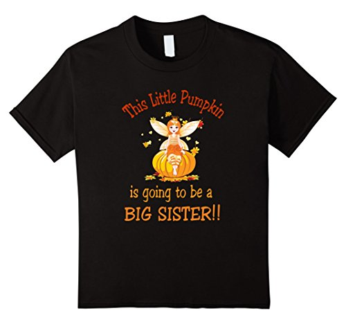 Kids Halloween big sister to be shirt 12 (Brother And Sister Halloween Outfits)