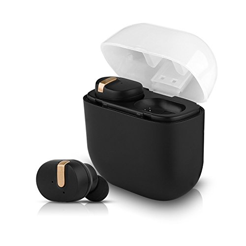 60%OFF IVSO Wireless Earbuds, True Wireless Stereo Bluetooth V4.1 Headphones with Portable Charging Case & Noise Reduction Earphones Long Battery Life Sweatproof In-Ear Headset with Mic for Phone (Black)