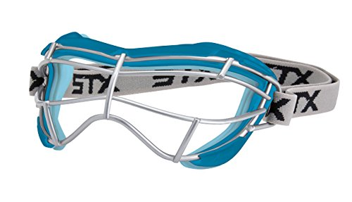 (STX Lacrosse Women's 4Sight Focus Goggles, Capri Blue/Ice)