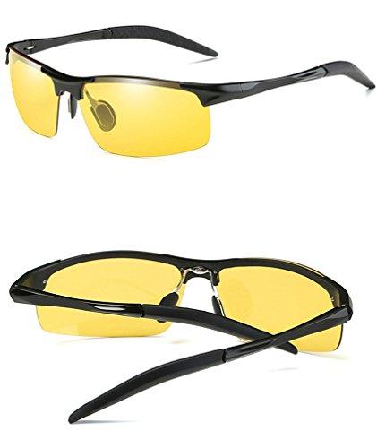 UV intelligente Protection Nuit Soleil Couleurs Anti de jaune Lunettes à et Verres pour Hommes changeantes Polarisées Jour Lunettes de HUHUXIAOWU Lentille Soleil aA1Uxqwxn