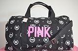 Victoria's Secret RARE CUTE LOVE PINK Canvas Travel GYM Duffle Tote Luggage Bag