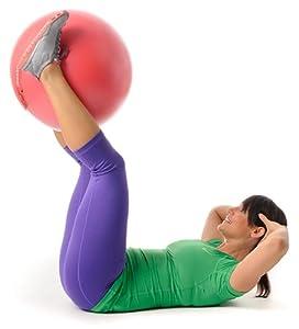 Übungs Workout mit dem Pezziball